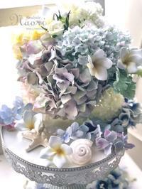 貝殻のリングピロー2お花の色合わせ - naori_net