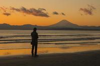 冬の湘南海岸の夕景 - エーデルワイスPhoto