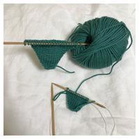 帽子:フレンチメリノ Chemo Earflap Hat (1) - よなよな編み物