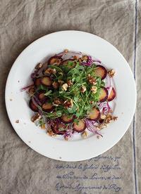 豆苗サラダ - Nasukon Pantry