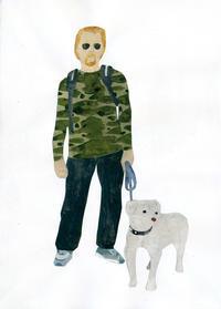 「With the dog 05」個展Brown morningより - yuki kitazumi  blog