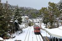 栗田駅の雪 - 今日も丹後鉄道