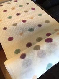 絞り染め 着物に挑戦! & 銘仙の羽織から手作り名古屋帯 - mayumin blog 2