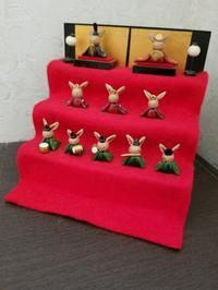 うさぎのお雛様 段飾り - うさぎ山の四季