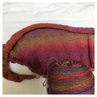 ショール:ユウヤケのソラ Sunflower Shawlette(2) - よなよな編み物