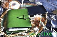 イタリアンバケッタレザー・エルバマット・システム手帳とマネークリップ・時を刻む革小物 - 時を刻む革小物 Many CHOICE~ 使い手と共に生きるタンニン鞣しの革
