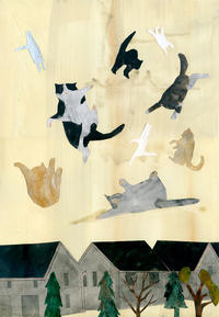 「Brown cats and cats of other colors」個展Brown morning より - yuki kitazumi  blog
