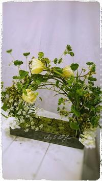 福岡フラワーアレンジメント教室 - 福岡パリスタイルフラワーアレンジメント教室 Chez le dill fleur   シェ・ル・ディル・フルール