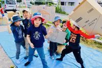 ダンボールキャンプ〔1日目〕ダンボールを使って自分たちの基地作り!はじまりました! - ねこんちゅ通信(ネコのわくわく自然教室)
