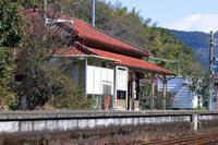 駅舎(網田駅)。 - 青い海と空を追いかけて。