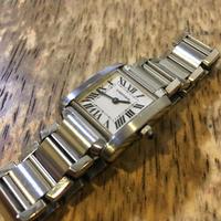 カルティエ タンクフランセーズバッテリー交換 - トライフル・西荻窪・時計修理とアンティーク時計の店