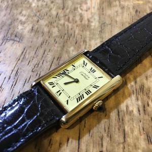 Cartier カルティエ マストタンク 手巻き腕時計修理 - トライフル・西荻窪・時計修理とアンティーク時計の店