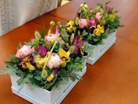 ボックスフラワーで部屋の中は春の花壇 - つれづれ日記