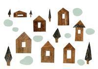 木の家 コラージュ - 手製本クリエイター&切絵コラージュ作家 yukai の暮らしを愉しむヒント