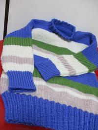 出来上がったセーターは… - 畑へ行こう♪