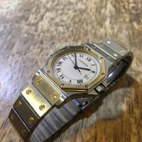 カルティエ サントスオクタゴンクオーツ時計ベルトの修理 - トライフル・西荻窪・時計修理とアンティーク時計の店