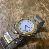 Cartier カルティエサントスラウンドレディース腕時計の修理 - トライフル・西荻窪・時計修理とアンティーク時計の店