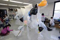 児童画クラス合作怪獣を作ろう! - 大阪の絵画教室 アトリエTODAY