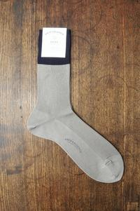 【 ARTS&SCIENCE 】Combi color plain socks men's Plain cotton yarn - i.d.&company