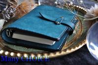 セミオーダー・イタリアンレザープエブロ・システム手帳とペンケース - 時を刻む革小物 Many CHOICE~ 使い手と共に生きるタンニン鞣しの革