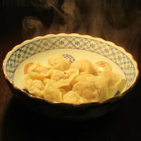 大根とザーサイの水餃子(皮は手作り) - あきらや料理録