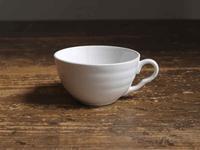 白いビストロカップ  直径 7.6cm  /F047 - Glicinia 古道具店