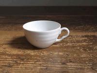 白いアール・デコ カップ 直径7.6cm    /F049 - Glicinia 古道具店