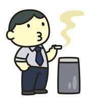 """狭いスペースの喫煙所は人がいっぱい、煙がモクモクなんだぜ! - """"みんなアベコベ、日本とスペイン!"""""""