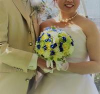 白ドレス&ブルードレスに似合うラウンドブーケ♪ - デイジーのひとりごと