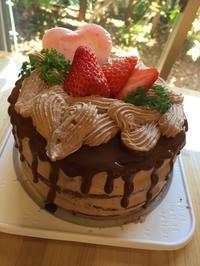 バレンタインネイキッドチョコレートケーキレッスン - 調布の小さな手作りお菓子教室 アトリエタルトタタン