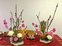 お雛様のフラワーアレンジ&ハーバリウムレッスン - coco diary 山口県 お花と絵と楽しいティータイム