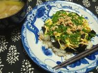 鶏そぼろの散らし寿司 - Minha Praia