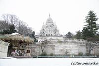3月のイベント準備をしながら、雪のモンマルトルの丘 - パリときどきバブー  from Paris France
