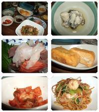 焼きそば・牡蠣・刺身・だし巻き卵 - 『車いすで楽しめる食事処』・レシピ&ガーデニング