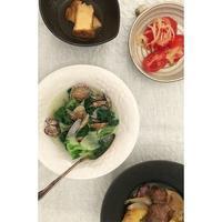 しろなとあさりのにんにく煮 - Feeling Cuisine.com