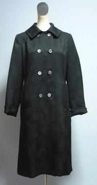 黒の綸子のコート - 私のドレスメイキング