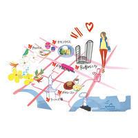 シンガポールマップ - まゆみん MAYUMIN Illustration Arts