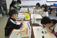 児童画クラス恵方巻きと家族絵 - 絵画教室アトリエTODAY