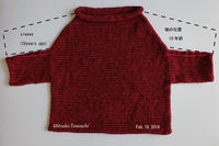 今どきのセーターNowadays sweater - 糸始末な日々         Thread&Yarn Handing Days