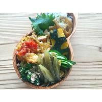 フキと厚揚げの卵とじBENTO - Feeling Cuisine.com
