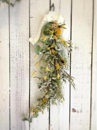 2月の 1dayレッスン『garland』① - driedflower arrangement ✦︎ botanical accessory ✦︎ yukonanai ✦︎ gland*