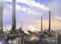 工場 水彩画 - はるさき水彩画blog