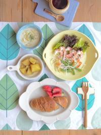 マカロンカラーの器の朝ごはん - 陶器通販・益子焼 雑貨手作り陶器のサイトショップ 木のねのブログ