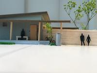 みんなの平屋模型完成。 - ミヤザキヒロシの中庭空間