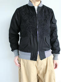 NOMA t.d. Hand Emb Bomber Jacket - 『Bumpkins putting on airs』