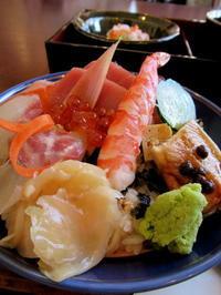 和食ダイニング 森Q *「新鮮魚のちらし寿司」と「まぐろ漬け丼と竜田揚げ」 - ぴきょログ~軽井沢でぐーたら生活~