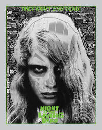 NIGHT OF THE LIVING DEAD screen print by Brian Ewing - 下呂温泉 留之助書店 入荷新着情報