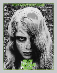 NIGHT OF THE LIVING DEAD screen print by Brian Ewing - 下呂温泉 留之助書店 入荷新着情報