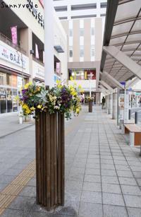 鴻巣駅が華やかになっています! - さにべるスタッフblog     -Sunny Day's Garden-