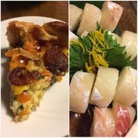久しぶりの鯛寿司と、手作りキッシュ - 妄想旅